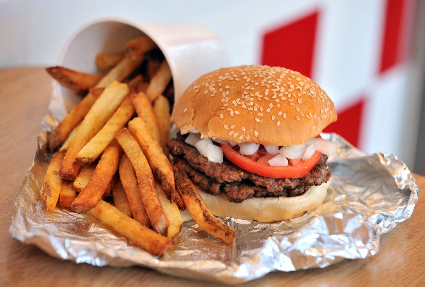 five guys burgers and fries ingredients for success case study Five guys is a fast food franchise restaurant company that focuses on hamburgers and fries success in a challenging economic environment ingredients: five.