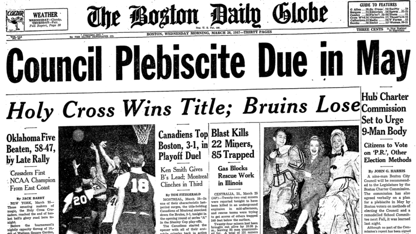 the holy cross of 1947 The holy cross 1947 national basketball championship the school was small the program was an afterthought the gymnasium was non-existent that a team from the college of the holy cross should find itself in the championship game of the ncaa tournament was a preposterous notion.