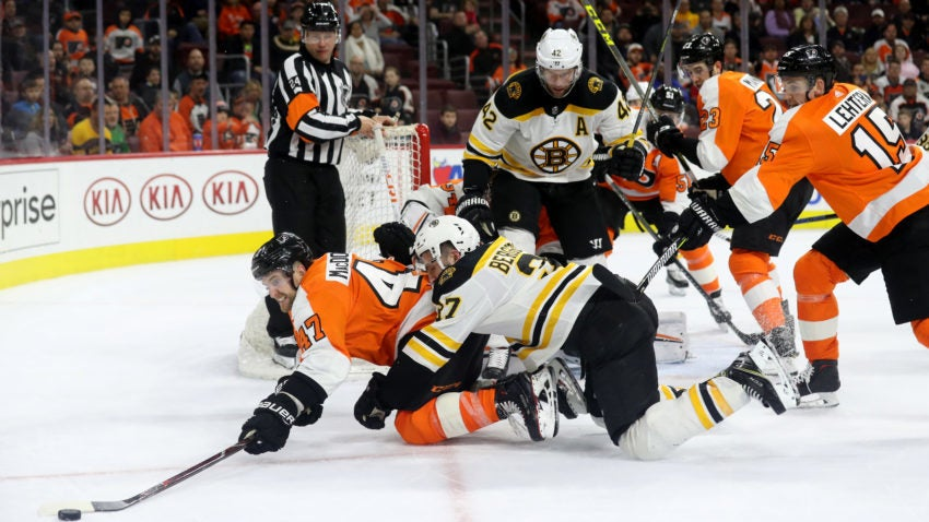 Bruins Rally Against Flyers But Fall In Overtime